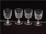 Click here to enlarge image and see more about item 888: Arcoroc Footed Wine Glasses