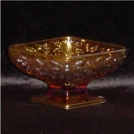 Click here to enlarge image and see more about item 897: Indiana Glass Marigold Candy Dish