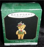 Teddy Bear Style Miniature Hallmark Ornament