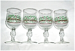 Click here to enlarge image and see more about item 917s: Arby's Bow Christmas Glasses Set of 4