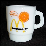 Click here to enlarge image and see more about item 923s: Fire King McDonalds Mug
