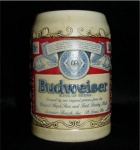 Click here to enlarge image and see more about item 943: Budweiser Beer Stein