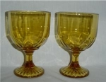 Click here to enlarge image and see more about item 949: Amber Goblet Set