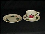 Click here to enlarge image and see more about item 94s: Blue Ridge Bread & Butter Plate/Cup & Saucer
