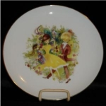 Click here to enlarge image and see more about item 959: Otco Bavarian Boy & Girl Plate