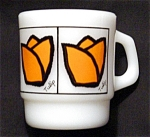 Click here to enlarge image and see more about item 959s: Fire King Tulip Coffee Mug