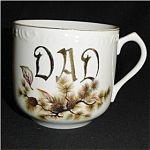 Click here to enlarge image and see more about item 95s: Dad Coffee Mug with Gold Trim