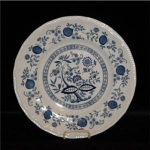 Click here to enlarge image and see more about item 960: Kennsington Straffordshire Blue Onion Plate