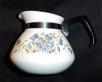 Click here to enlarge image and see more about item 961s: Corning Ware 6 Cup Blue Bell Flower Teapot