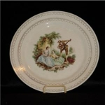 Click here to enlarge image and see more about item 962: American Limoges Serenade Dinner Plate