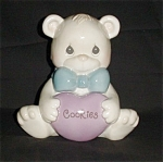 Click here to enlarge image and see more about item 964s: Precious Moments Bear Cookie Jar