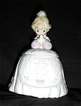 Click here to enlarge image and see more about item 965s: Precious Moments Prayer Girl Cookie Jar