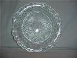 Click here to enlarge image and see more about item 968: Octagon Glass Sandwich Plate