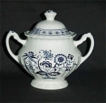 Click here to enlarge image and see more about item 980s: J & G Meakin Blue Nordic Sugar Bowl