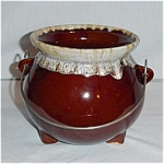 Click here to enlarge image and see more about item 981ss: USA Brown Drip Soup Pot