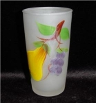 Click here to enlarge image and see more about item 988: Hazel Atlas Frosted Drinking Glass