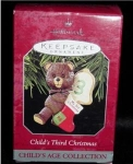 Click here to enlarge image and see more about item 98h: Child's Third Christmas Hallmark Ornament