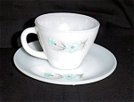 Fire King Cornflower Blue Cup and Saucer