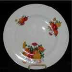 Click here to enlarge image and see more about item 998: Crown Sterling Buckingham Asters Plate