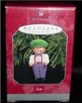 Click here to enlarge image and see more about item 99h: Son Hallmark Ornament