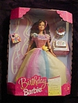 Click here to enlarge image and see more about item b108: 1998 Birthday Barbie Doll