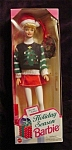 Click here to enlarge image and see more about item b117: 1996 Holiday Season Barbie Doll
