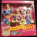 Click here to enlarge image and see more about item b119: 1994 Birthday Fun at McDonalds Barbie Doll