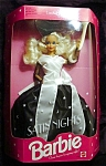 Click here to enlarge image and see more about item b122: 1992 Satin Night Barbie Doll