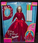 Click here to enlarge image and see more about item b19: 1998 Very Velvet Barbie Doll
