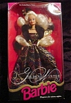Click here to enlarge image and see more about item b60: 1993 Golden Winter Barbie Doll