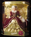 Click here to enlarge image and see more about item b75: 1996 Happy Holidays Barbie Doll