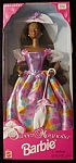 Click here to enlarge image and see more about item b77: 1996 Sweet Magnolia Black Barbie Doll