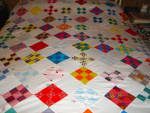 Click here to enlarge image and see more about item q25: Nine Patch Quilt Top