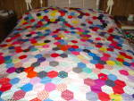 Click here to enlarge image and see more about item q26: Cobblestone Quilt Top