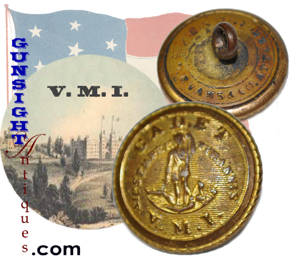 CIVIL WAR era Virginia Military Institute BUTTON ( Colonial & CIVIL