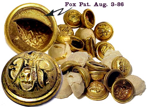 Fox Pat. 1886 Civil War Vet's Button Covers