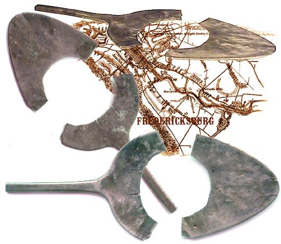 UNUSUAL Civil War  ID pin / CORPS DEVICE RELIC (Image1)