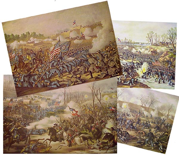 Kurz & Allison BATTLES OF THE CIVIL WAR  prints (Image1)