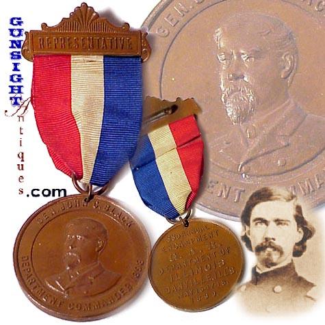 MEDAL of HONOR winner Gen. J. C. Black – ILLINOIS Civil War Vet. MEDAL (Image1)