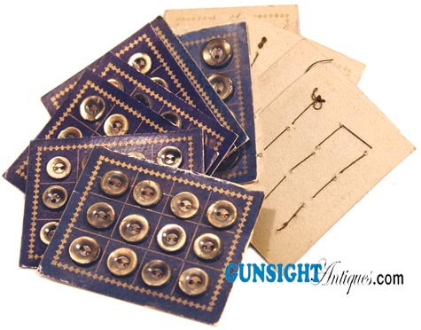 Civil War era BUTTON CARDS WITH ORIGINAL SHELL BUTTONS (Image1)