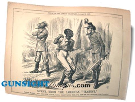 Civil War Punch Cartoon – THE AMERICAN TEMPEST (Image1)