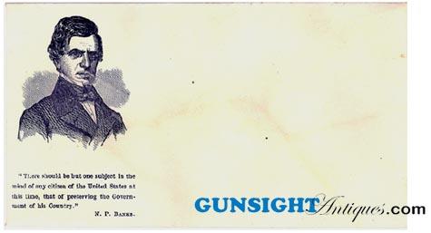 Civil War - Gen. Banks PATRIOTIC ENVELOPE (Image1)