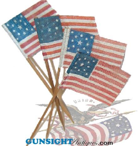 13 STAR Civil War PATTERN  STICK FLAG (Image1)