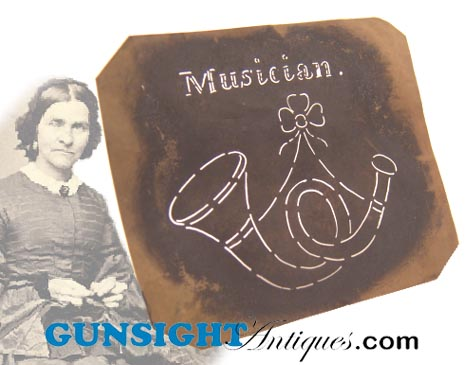 Civil War era & earlier -  MUSICIAN'S INSIGNIA STENCIL (Image1)