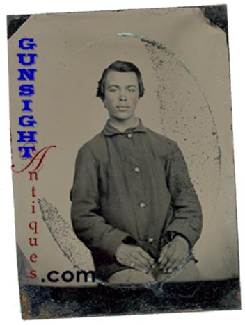 Civil War ENLISTED Quarter Plate TINTYPE (Image1)