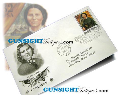 CLARA BARTON 1st Day Postal Cover (Image1)