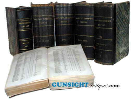 Civil War YEARS SET- MAINE ADJUTANT GENERAL REPORTS (Image1)
