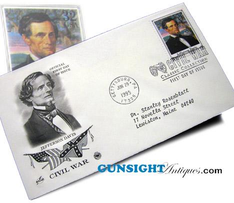 JEFFERSON DAVIS 1st Day Postal Cover (Image1)