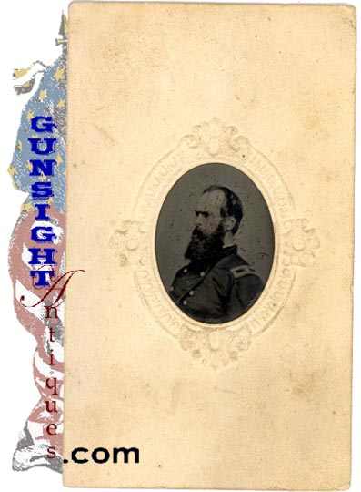 Period Tintype Of Gettysburg Division Commander - Gen. J. W. Geary