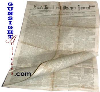 original & complete-Civil War date BOSTON NEWSPAPER (Image1)